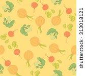 vegetables seamless pattern | Shutterstock .eps vector #313018121