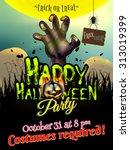 halloween poster for horror... | Shutterstock .eps vector #313019399