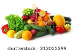 fresh vegetables and fruits ... | Shutterstock . vector #313022399