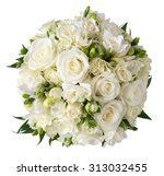 Bridal Bouquet Of White Rose I...
