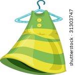 illustration ofa dress on hanger | Shutterstock .eps vector #31303747