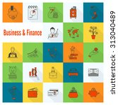 business and finance  flat icon ... | Shutterstock . vector #313040489
