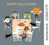 happy halloween party   Shutterstock .eps vector #313047179