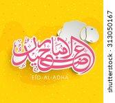 stylish pink arabic islamic... | Shutterstock .eps vector #313050167