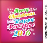2016 merry christmas and happy...
