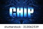 chip  concept  the word written ... | Shutterstock . vector #313062539