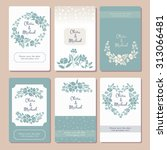 pastel wedding graphic set with ... | Shutterstock .eps vector #313066481