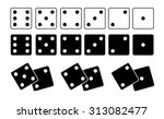 dice set white and black | Shutterstock .eps vector #313082477