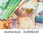 money of kazakhstan | Shutterstock . vector #313086134