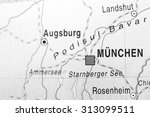 black and white map view of...   Shutterstock . vector #313099511
