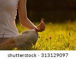 Image Of Yoga Woman Sitting On...