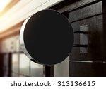 3d rendering of signboard | Shutterstock . vector #313136615