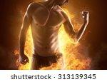 ripped man | Shutterstock . vector #313139345