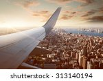flight over new york city | Shutterstock . vector #313140194