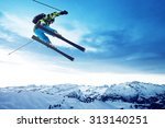 skier jumps | Shutterstock . vector #313140251