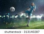 soccer woman   Shutterstock . vector #313140287