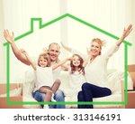 family  children  accommodation ... | Shutterstock . vector #313146191
