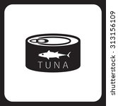 canned tuna icon | Shutterstock .eps vector #313156109