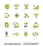 connectivity icons    natura... | Shutterstock .eps vector #313156247