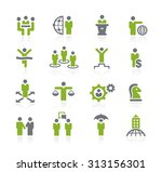 business success icons   ... | Shutterstock .eps vector #313156301