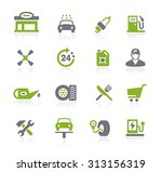gas station icons    natura... | Shutterstock .eps vector #313156319