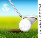 golf ball vector concept golf...   Shutterstock .eps vector #313157561