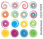 spiral  rotation and swirling... | Shutterstock .eps vector #313174559
