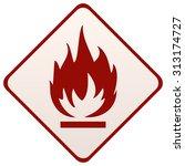 fire sign on a diamond shape... | Shutterstock .eps vector #313174727