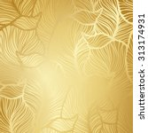 luxury golden wallpaper.... | Shutterstock .eps vector #313174931