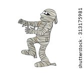 funny character mummy for... | Shutterstock .eps vector #313175981