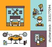 auto service design concept set ... | Shutterstock . vector #313177094