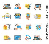 shopping e commerce online... | Shutterstock . vector #313177481