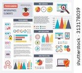 programmer infographics set... | Shutterstock . vector #313178039