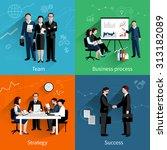 teamwork design concept set... | Shutterstock . vector #313182089