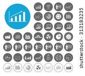 graph icons set. illustration... | Shutterstock .eps vector #313183235