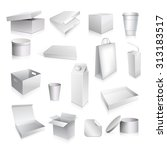 packaging set with paper cup... | Shutterstock . vector #313183517