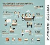 office work business team... | Shutterstock . vector #313183661