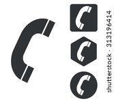 call icon set  monochrome ...