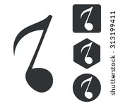 music icon set  eighth note ...