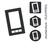 smartphone icon set  monochrome ...