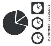 diagram icon set  monochrome ...