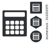 calculator icon set  monochrome ...