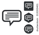 text message icon set ...