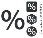 percent icon set  monochrome ...