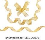 gold ribbons on white... | Shutterstock . vector #31320571