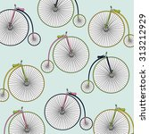 old bicycle pattern   Shutterstock .eps vector #313212929