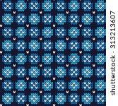 knitted winter seamless pattern | Shutterstock .eps vector #313213607