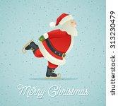 santa claus ice skate | Shutterstock .eps vector #313230479