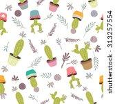 cactus background vector... | Shutterstock .eps vector #313257554