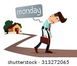 frustrated young worker with a... | Shutterstock .eps vector #313272065